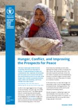 Hunger, konflikt och förbättring av förutsättningarna för fred - faktablad 2020