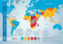 2018 - Karta över hunger i världen